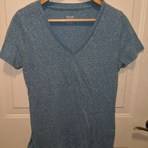 Mossimo Blue Heather V-Neck Size Large